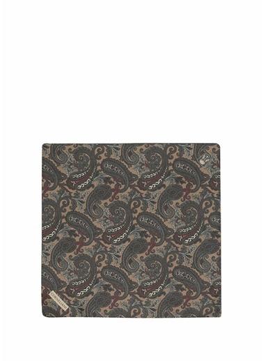 Corneliani Corneliani Colorblocked Şal Desenli İpek Poşet Mendil 101624724 Renkli